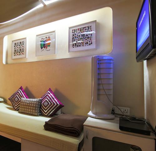 Sleeping pods inside Delhi Airport